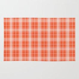 Spring 2017 Colors Flame Orange Red Tartan Plaid Rug