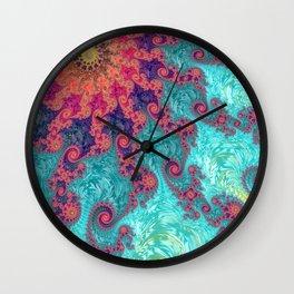 Rainbow Fractal Wall Clock