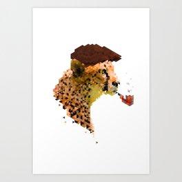 Gentlemen's instinct # Cheetah Art Print