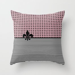 Pastel pink - Dots and Lines Throw Pillow