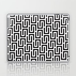 Geometric Pattern #140 (black white) Laptop & iPad Skin