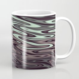 Ripples Fractal in Mint Hot Chocolate Coffee Mug