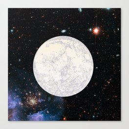 Moon machinations Canvas Print