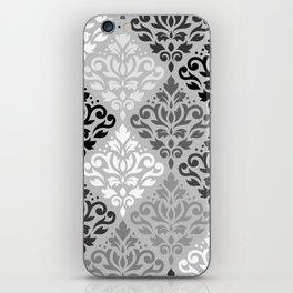 Scroll Damask Ptn Art BW & Grays iPhone Skin