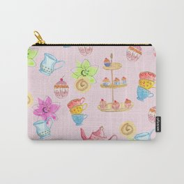 Tea party pink Carry-All Pouch