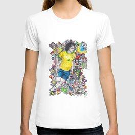 David Luiz and the 2014 Brazil World Cup T-shirt