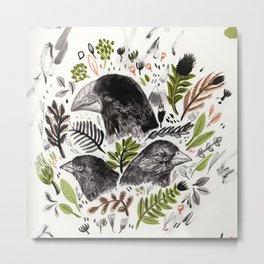 DARWIN FINCHES Metal Print