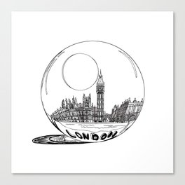 London in a glass ball . (https://society6.com/vickonskey/collection ) Canvas Print