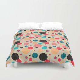 Multicolored Geometric Polka Dot Pattern Duvet Cover