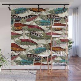 Alaskan salmon pearl Wall Mural