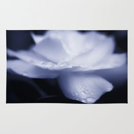 Sweet a beautiful Gardenia flower with water droplets Rug