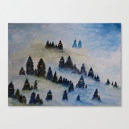 Trollen i snotackta skogen Canvas Print