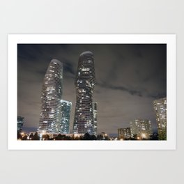 Marilyn Monroe Buildings Art Print