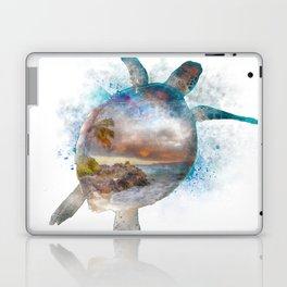 Turtle Double Exposure Watercolor Laptop & iPad Skin