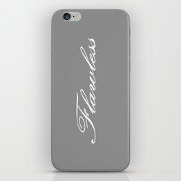 Flawless Gray & White iPhone Skin