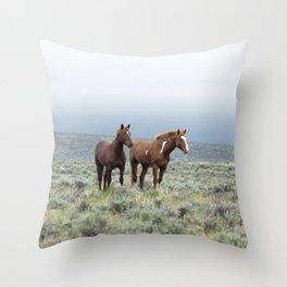 Wild Horses - Steens No. 1 Throw Pillow