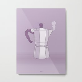 Coffee Maker Series - Moka Metal Print