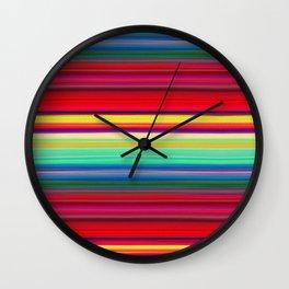 Rainbow Colors Wall Clock