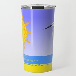 Egrets at the beach Travel Mug