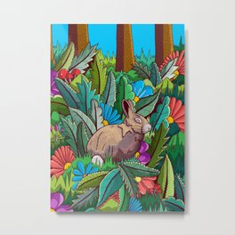 The rabbit of the woods Metal Print