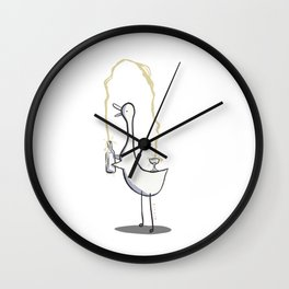 Champagne Wishes Wall Clock