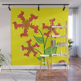 Doxie Flower Wall Mural
