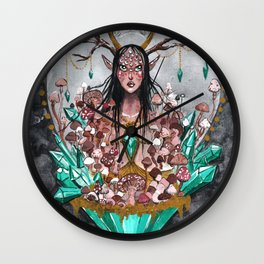 Crystal Fae Witch Wall Clock