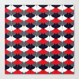 Manta Ray Pattern (Blue and Red) Canvas Print