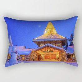 Santa's Home. Rectangular Pillow