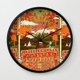 MORNING PSYCHEDELIA Wall Clock