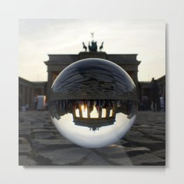 Brandenburg Gate, Berlin Germany / Glass Ball Photography Metal Print