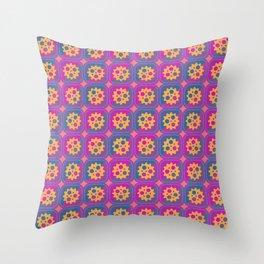 Gearwheels pattern Throw Pillow