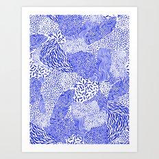 Blue sand Art Print