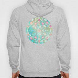 Floral Moroccan in Spring Pastels - Aqua, Pink, Mint & Peach Hoody