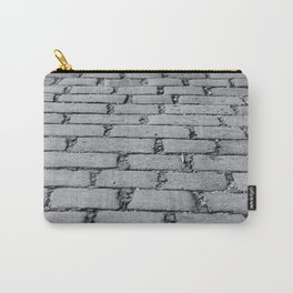 Cobbled Road Black and White Photography Carry-All Pouch