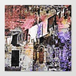 Sassi di Matera: laundry Canvas Print