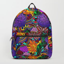 Flowers and Rainbows Backpack