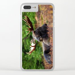 Relax Moose Clear iPhone Case