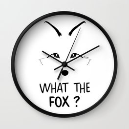 What the fox ? Wall Clock