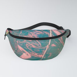 Abstract flamingo - pink, blue and green - Fanny Pack