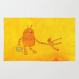 Robomama Robot Mother And Child Rug