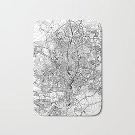 Madrid White Map Bath Mat