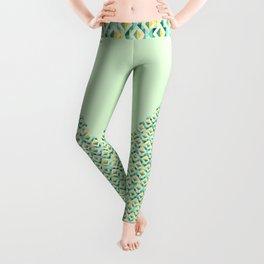 Quilted Diamond // Geometric Watercolor Pattern Leggings