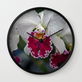 Cattleya Orchid Wall Clock