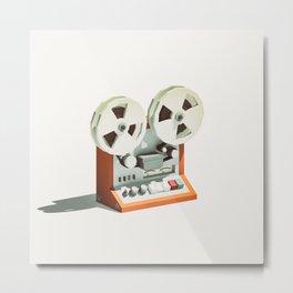 LO-FI GOES 3D - Reel 2 Reel Metal Print