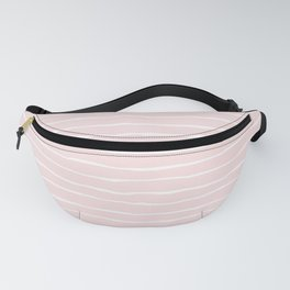 Pastel Pink and White Spring Stripes Fanny Pack