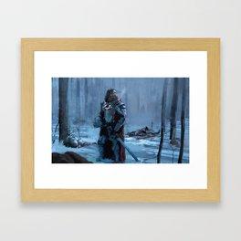 LATE ARRIVAL Framed Art Print