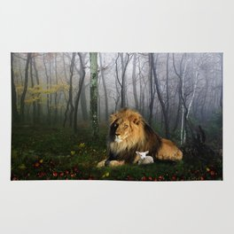 Lion and Lamb Rug