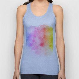 Rainbow abstract artistic watercolor splash background Unisex Tank Top