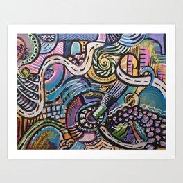 FREESTYLE: Pinky Purple Art Print